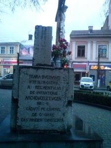Monument închinat ostașilor căzuți pe câmpul de luptă în Primul Război Mondial