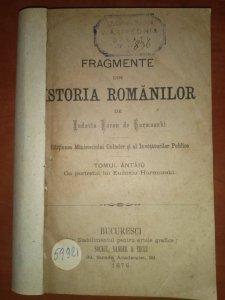 Istoria Românilor de Eudoxiu Hurmuzachi